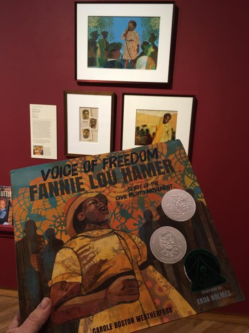 Miami university congrats to ekua holmes illustrator of the book voice of freedom fannie lou hamer featured in muams exhibition tellingapeoplesstory she won the 2018 fandeluxe Image collections