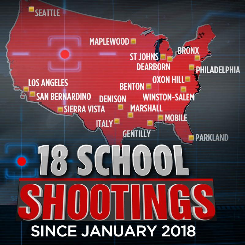 "ABC13 Houston On Twitter: ""SCHOOL SHOOTINGS: There Have"