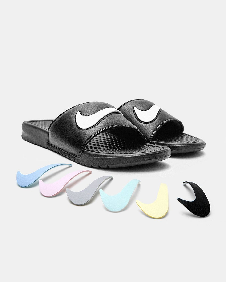 778d9c5810a Nike Benassi JDI LTD Slide  Black Multi-Color   Sail Multi-Color  is now  available in-store and online.