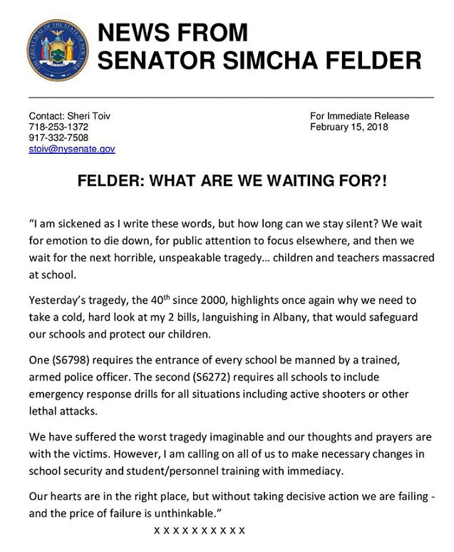 Senator Simcha Felder on Twitter:
