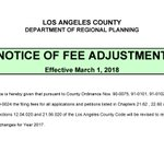 @LACDRP permit fees are scheduled to go up reflecting annual CPI changes.  Save money by submitting your applications before 3/1/2018. https://t.co/FtBvIFJh0a  @LACountyDCBA