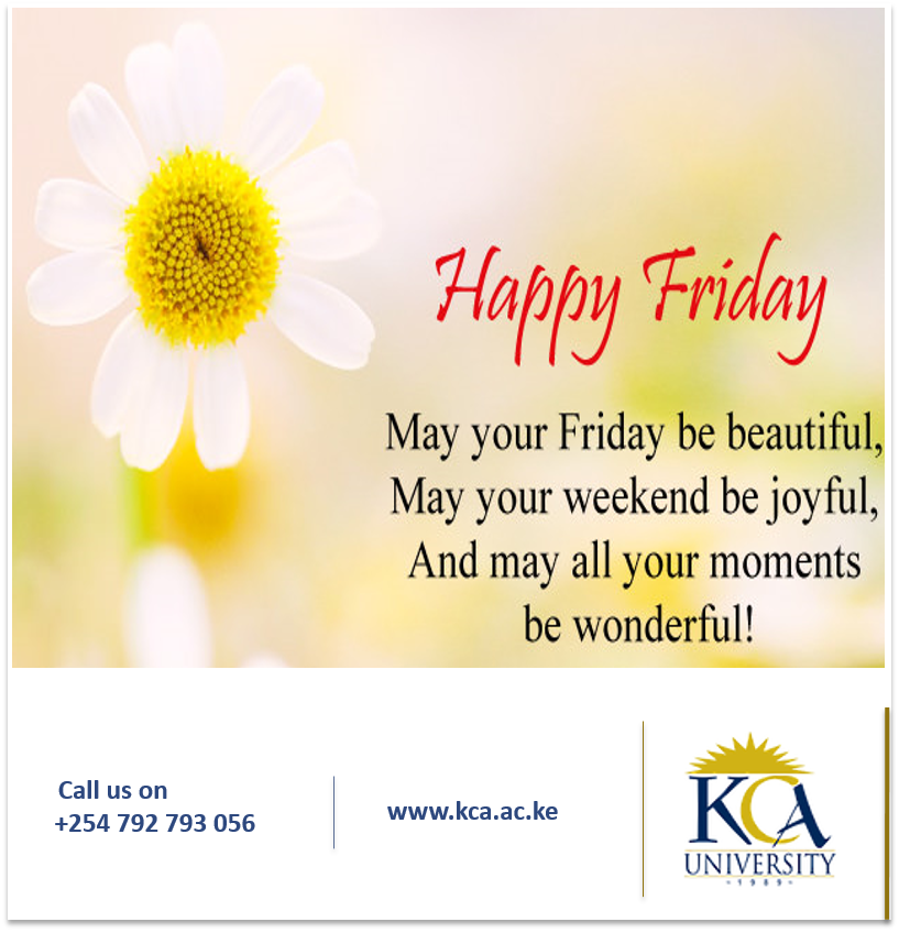 Kca University On Twitter Rest Easy And Enjoy Your Weekend