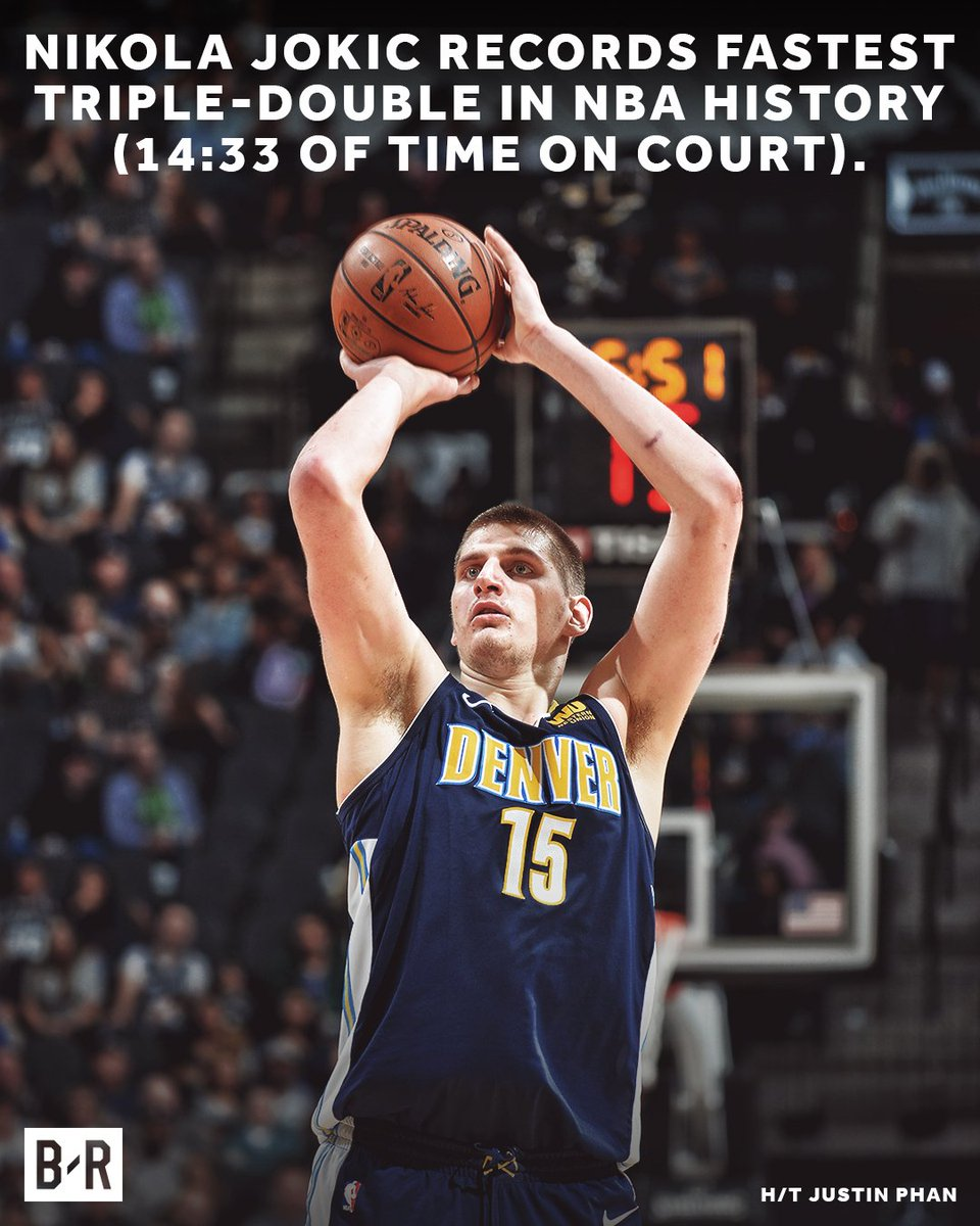 Jokic enters the break on a historic note.