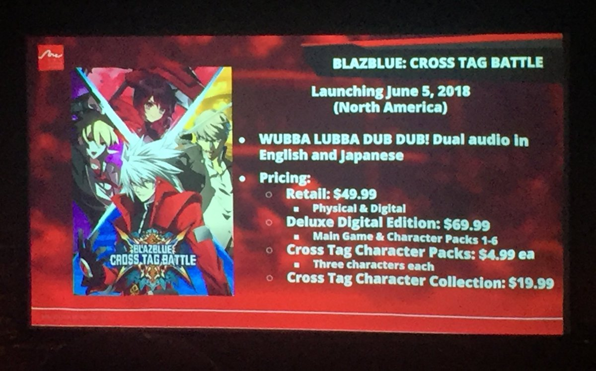Blazblue cross tag battle deluxe edition pre order
