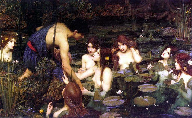 Ce tableau que vous regardez, est une toile peinte par John William Waterhouse en 1896, intitulée Hylas et les nymphes. Elle a été retirée de la vue des visiteurs car les 'femmes y sont représentées sous une 'forme passive décorative' https://t.co/40ChoQDLEM