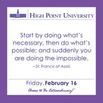 [CALENDAR] #WordsOfWisdom from St. Francis of Assisi. #HPU365