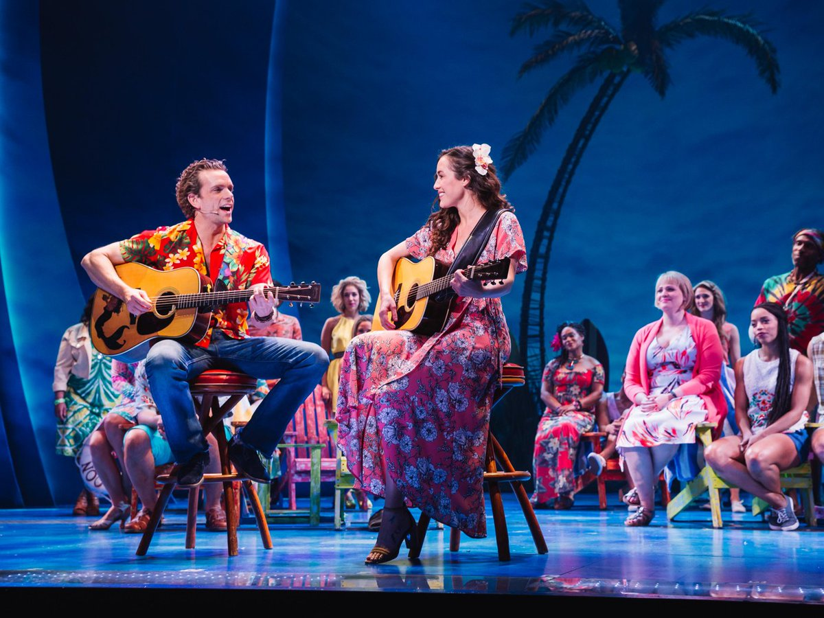The cast of @buffettmusical gives us a p...