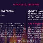 "Which parallel session will you choose? @CreativTourism or @londonpartners & @EURAC ? #ECMReykjavik18 is already next week! ""How to morph your DMO business model and engage the city"" #MeetShareGrow https://t.co/QToPxug97t #WeAreECM"
