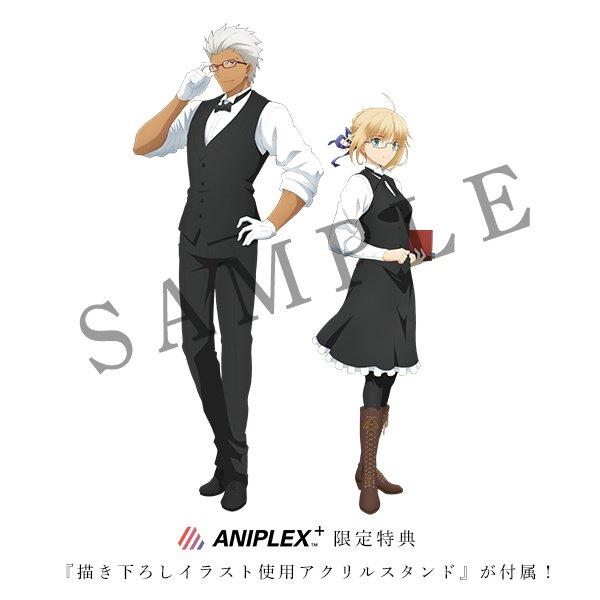 あわせてFate[UBW]セイバーモデル、アーチャーモデルも!#アニプラ 通販限定特典「描き下ろしイラストアクリルスタンド」付きで数量限定販売となります!  #fate_sn_anime