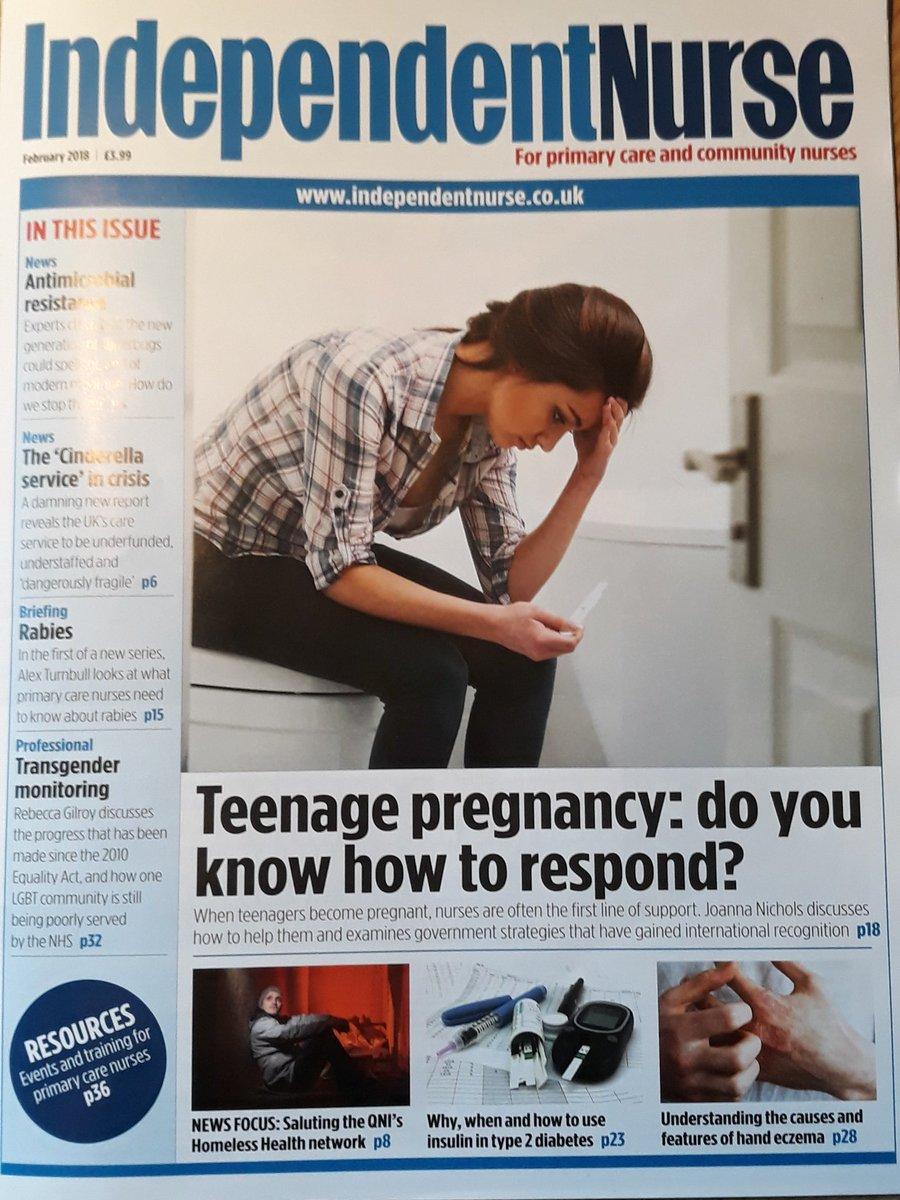 Magazine aritcals over teen pregancy