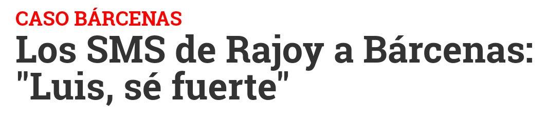 Allí donde haya un corrupto, allí estará Rajoy para darle ánimos.