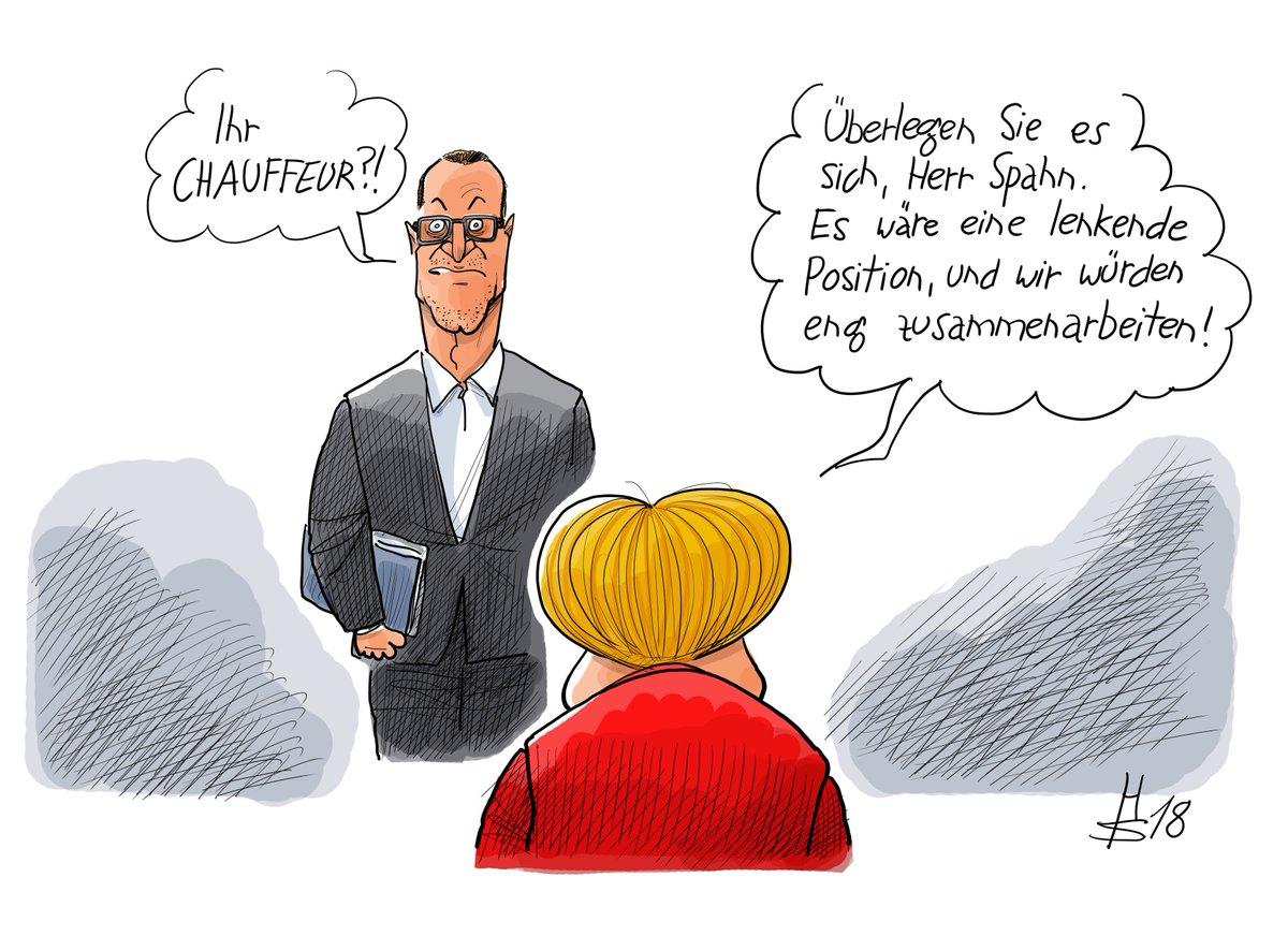 """Cicero Online a Twitter: """"Eine Beförderung für Jens Spahn? Merkel hätte da  schon einen geeigneten Posten gefunden. Unsere Karikatur des Tages  https://t.co/lZndeSDpDZ… https://t.co/RTgMQ47IVm"""""""