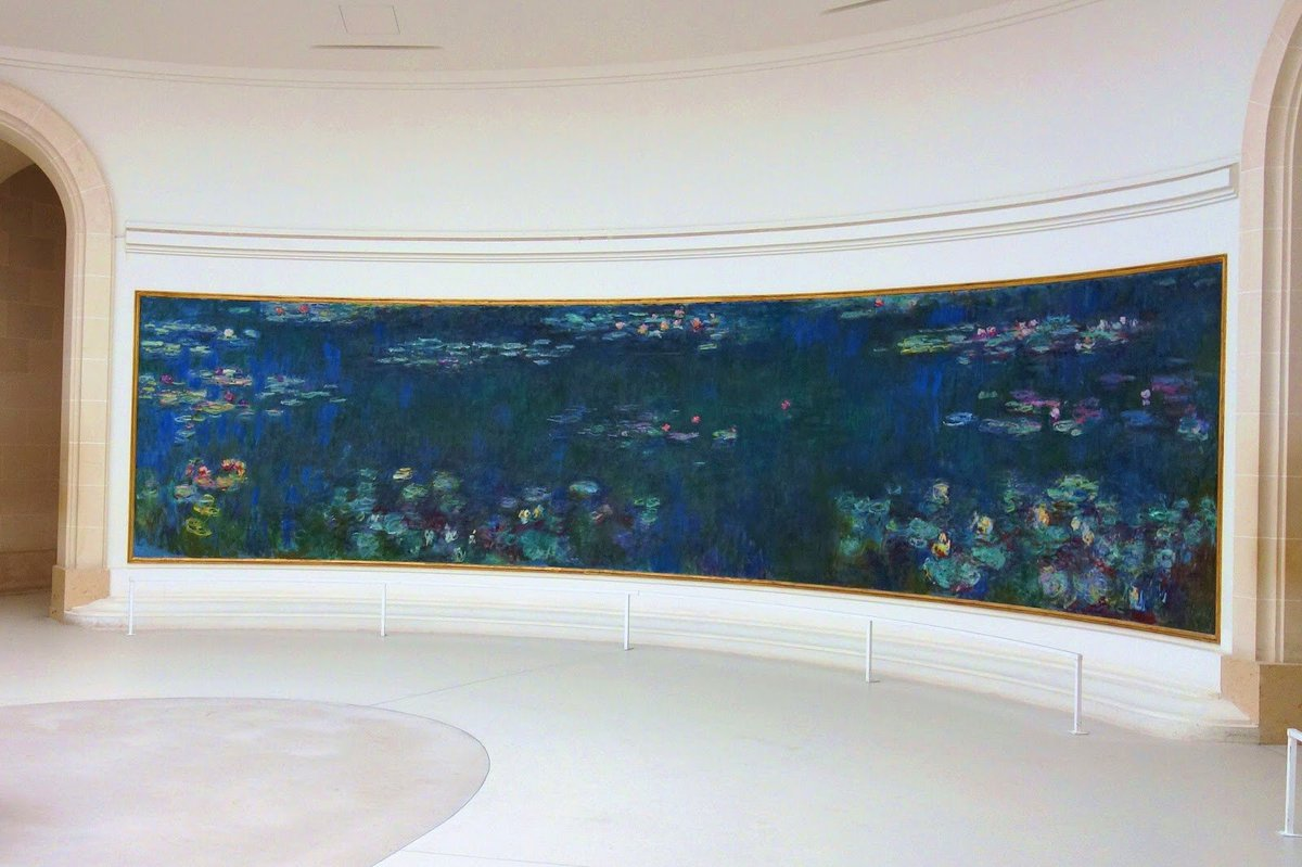Offered to the French State by Monet on the day following the Armistice of November 11, 1918 as a symbol for peace, his iconic Water Lilies were installed to @MuseeOrangerie in 1927 a few months after his death. https://t.co/9SOPaEA5zX https://t.co/zXqGAtu7Vi