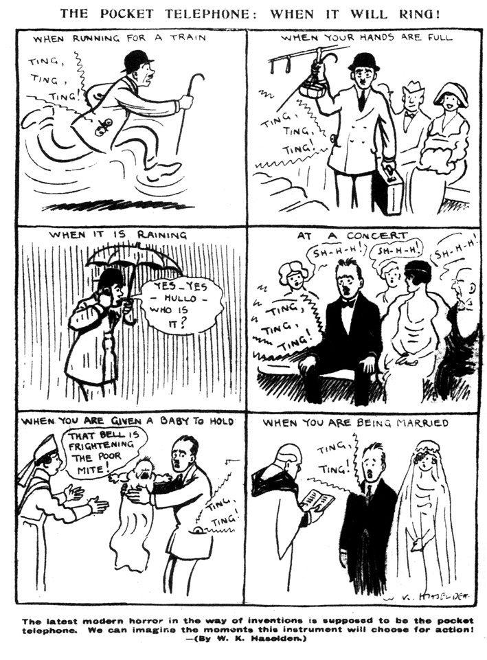 test Twitter Media - Bizar! Deze cartoon uit 1919 voorspelt de mobiele telefoon als een iets VRESELIJKS! #plaatjevandedag https://t.co/5MnDDuErqg