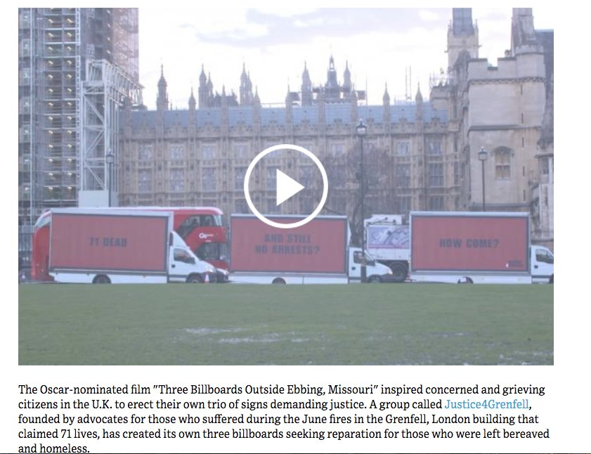 Three Billboards Becomes a Reality, Outside of #GrenfellTower in London https://t.co/kyfeH2t6E2 via @adage