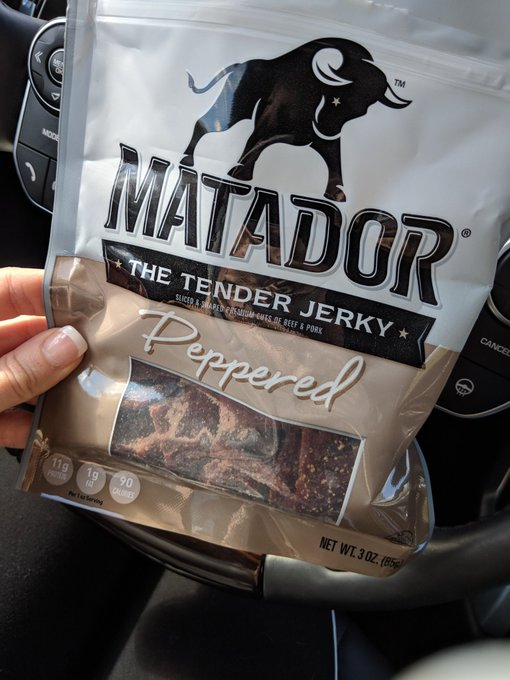 All about some car snacks. This jerky is bomb!!!! https://t.co/9zpbmmwInq