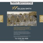 Many thanks to Dean Smith  of Wilson Smith for the match sponsorship v Leverstock Green