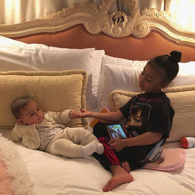 Kim Kardashian's 4-year-old daughter North West and Dave Grutman's 4-month-old daughter Kaia. #DaveGrutman #IsabelaGrutman #KaiaGrutman #KimKardashian #KUWTK #KanyeWest #NorthWest #Besties #BFF #BeverlyHillsHotel