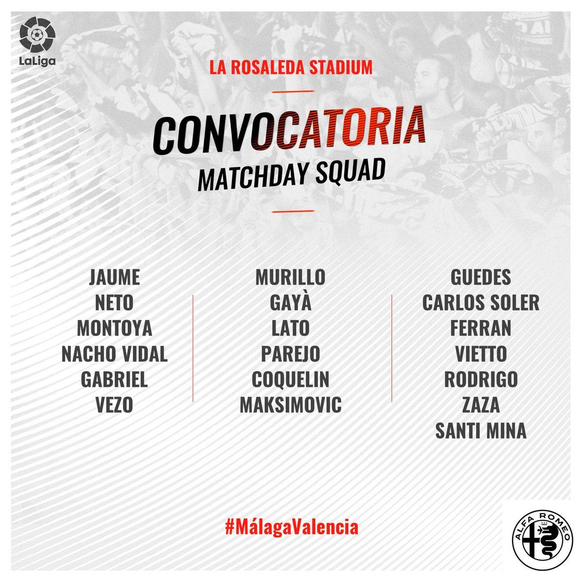 DWKA4FbW4AEFka2 Rodrigo y Murillo entran en la lista para viajar a Málaga - Comunio-Biwenger