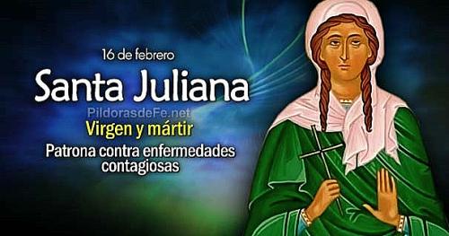 #Santoral | Hoy la Iglesia recuerda a Santa Juliana. Virgen y mártir. Patrona contra las enfermedades contagiosas