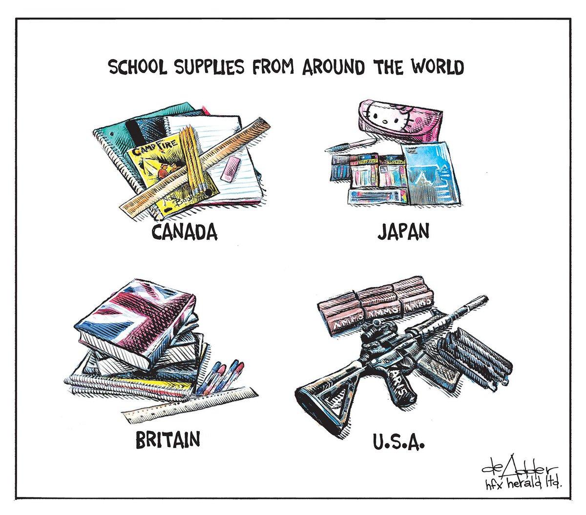 Cartoon for @chronicleherald #FloridaShooting #Florida #FloridaSchoolShooting #nra #AR15 #schoolshooting