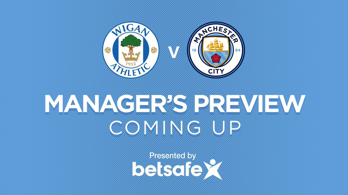 Hear from Pep ahead of Monday nights #FACup showdown with Wigan.  LIVE 🎥 bit.ly/2HhkqiZ #wafcvcity