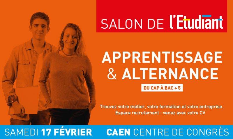 Demain, @letudiantsalon vous invite à la première édition du #salon #apprentissage #alternance au #CentredeCongres #Caen 🎓 ➡️Programme des conférences sur https://t.co/aHAMMEFDsn https://t.co/UFZHhDqF69