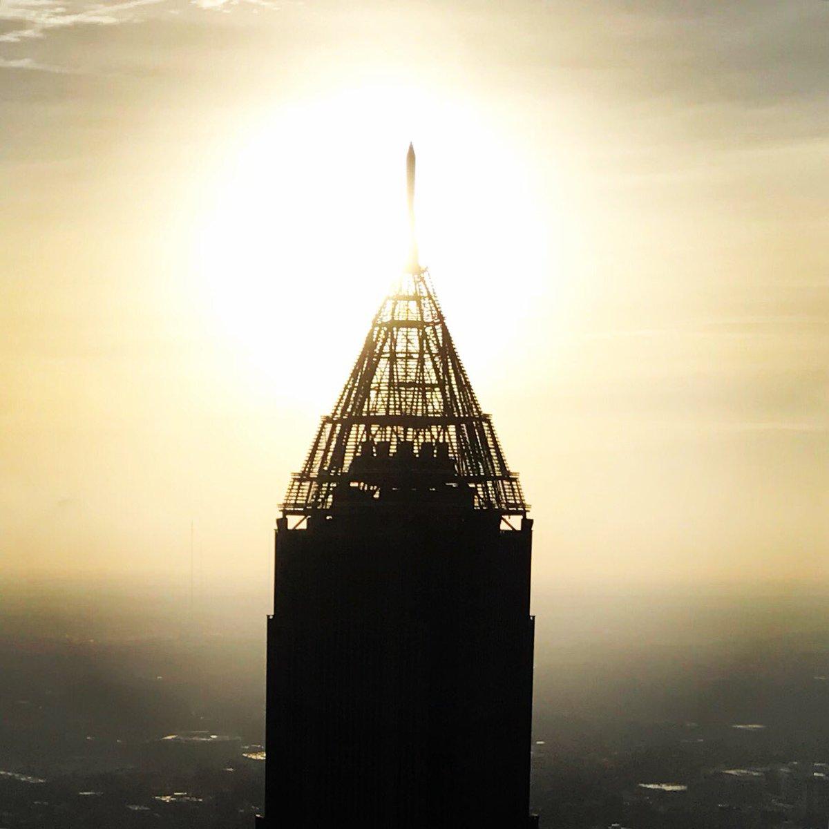 Welcome back to the ☀� over @BoAPlazaAtlanta in the morning! @wsbradio #SkyCopter @wsbtv #CaptnCam view