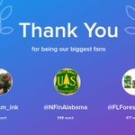 Our biggest fans this week: @Chrisism_ink, @NFinAlabama, @FLForestryAssoc. Thank you! via https://t.co/ojLw6c1loQ