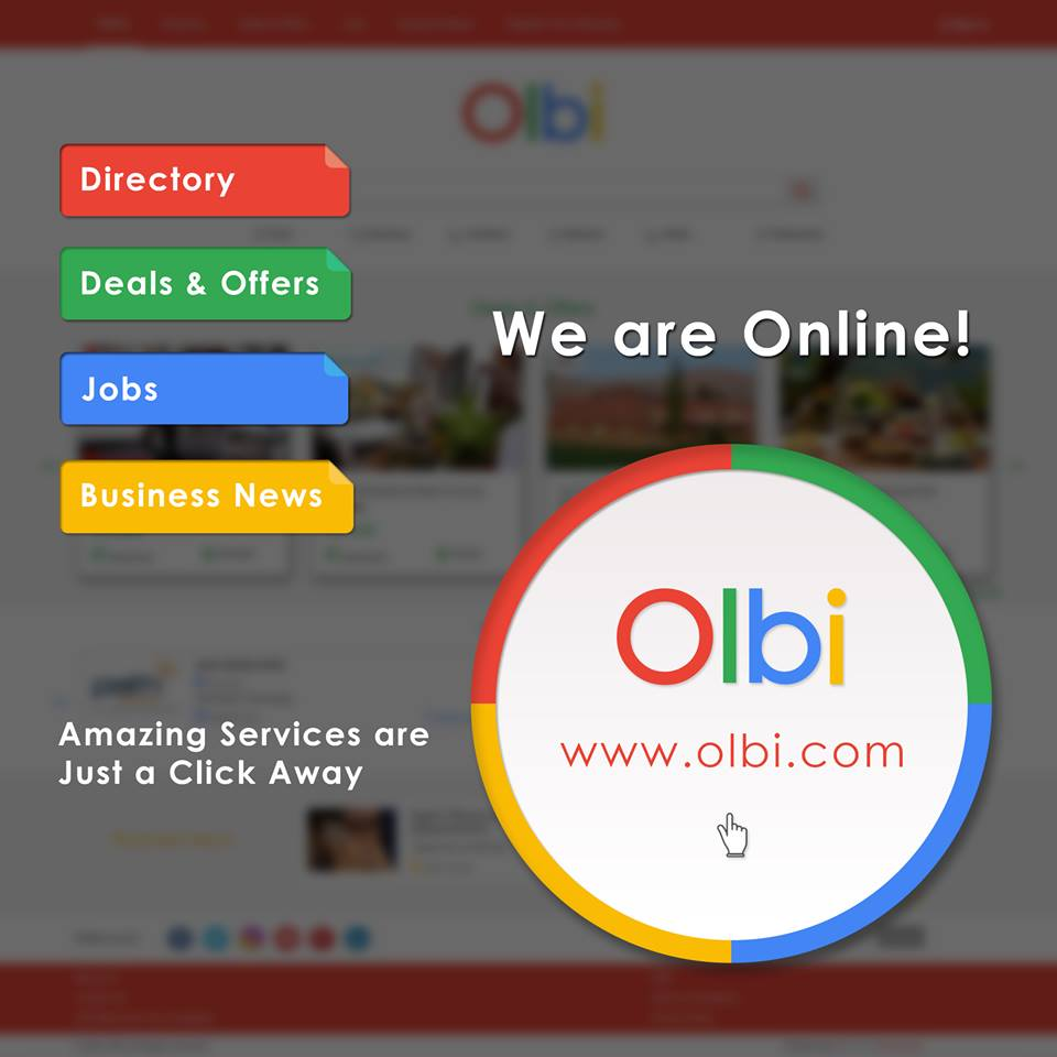 Olbi is now online! Your trusted source of On-Line Business Information is just a click away!  Visit https://t.co/F4SAtmte94 now and enter the wide business gateway for amazing services such as #Business #Directory, #Deals & #Offers, #Job posting and business #News. https://t.co/zZUhUzTG2E