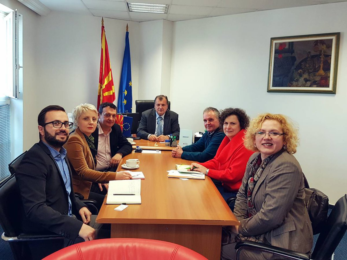 Great meetings last week with with Ministry representatives and @JAMacedonia to foster #entrepreneurial #skills of young people in Macedonia. #SwitchOnEurope