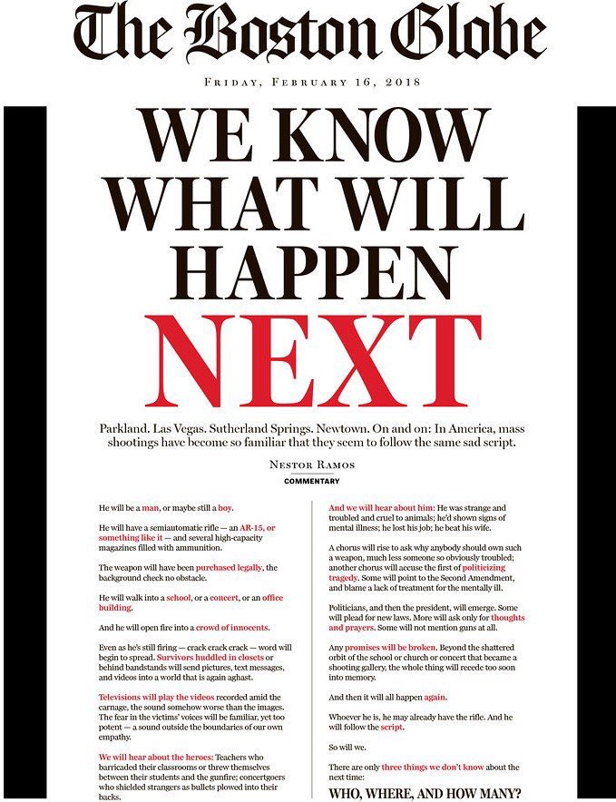 Wow. Boston Globe front today is something else.
