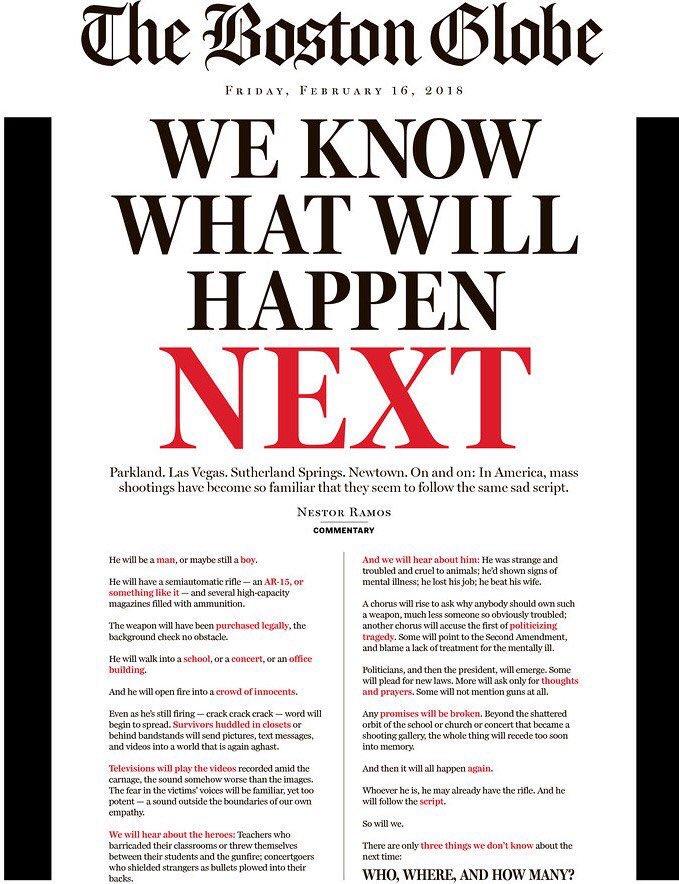 Wow. Boston Globe front today is somethi...