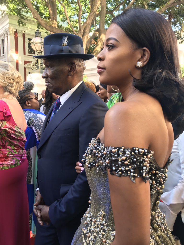 #SONA2018 Bheki Cele and his wife have arrived on the red carpet CA