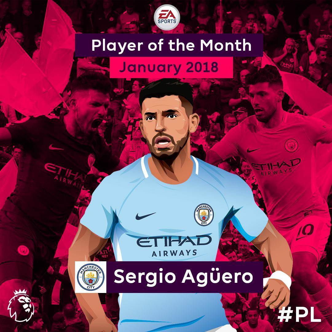 Your @EASPORTSFIFA Player of the Month for January is @aguerosergiokun!    #PLawards