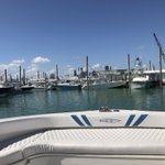 Best seat in the house as the @miamiboatshow kicks off! We can't wait to see you at booths 779 & 781! 😎 Happy Friday!   #InsettaBoatworks #Insetta45 #MiamiBoatShow #Catamaran #PowerCat #HappyFriday