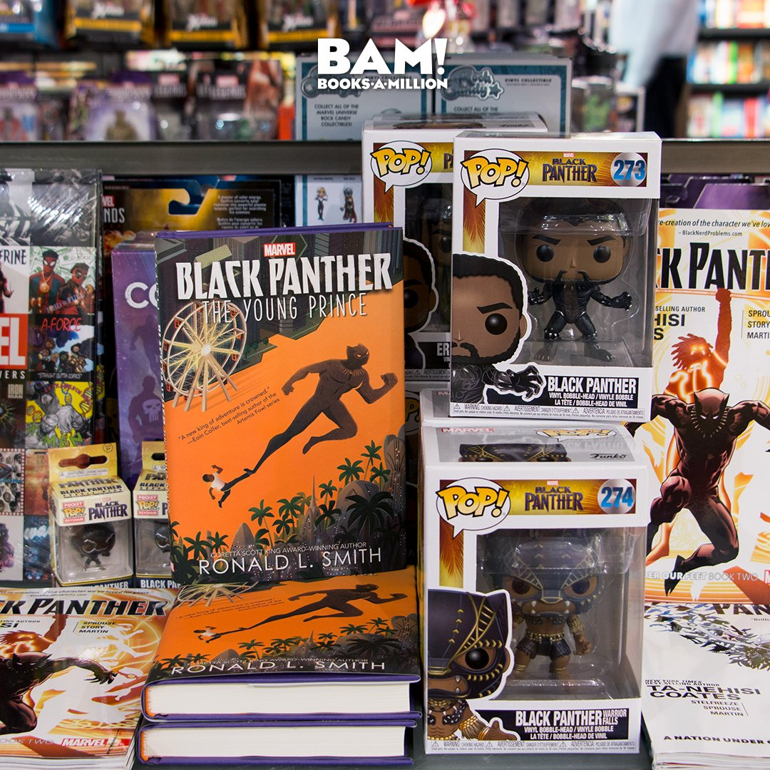 The king of Wakanda hits the big screen today! Find all your @theBlackPanther essentials here at #BooksAMillion. bit.ly/2EBD1I3