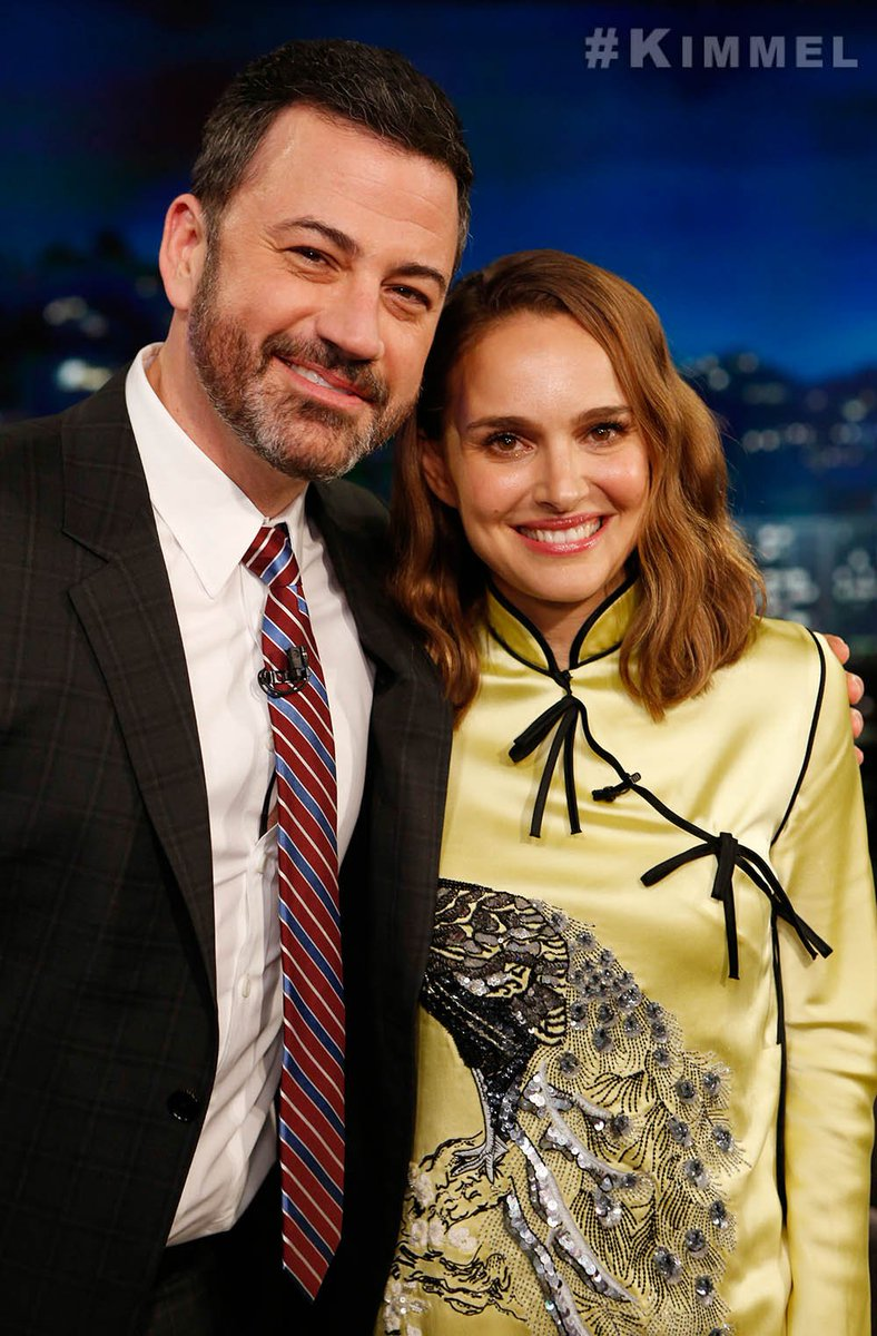 Natalie Portman will be at the Jimmy Kimmel Live tonight