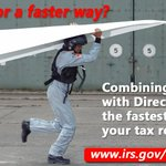 The quickest way to get your #IRS refund is to electronically file your tax return & use #IRSDirectDeposit. https://t.co/8dF7SHWYze