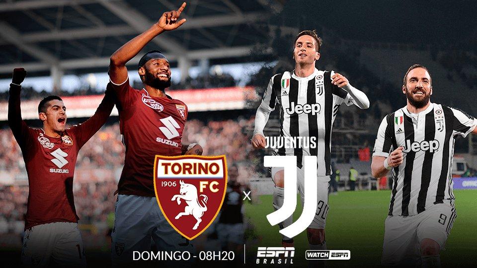 Campeonato Italiano  ⚽  ⚽  ⚽ Torino e Juventus se enfrentam AMANHÃ, às 08h20, e você assiste, AO VIVO na ESPN Brasil e no WatchESPN! #ItalianoNaESPN