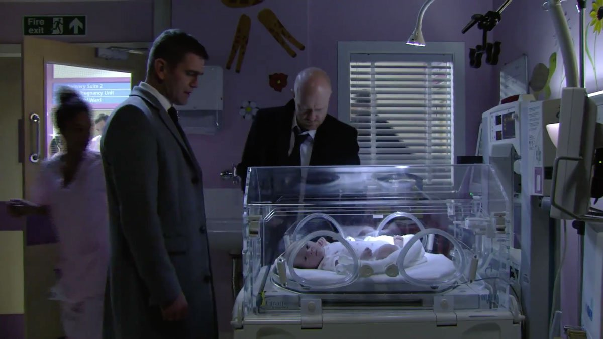 Max finally reveals name of Abi's baby -...