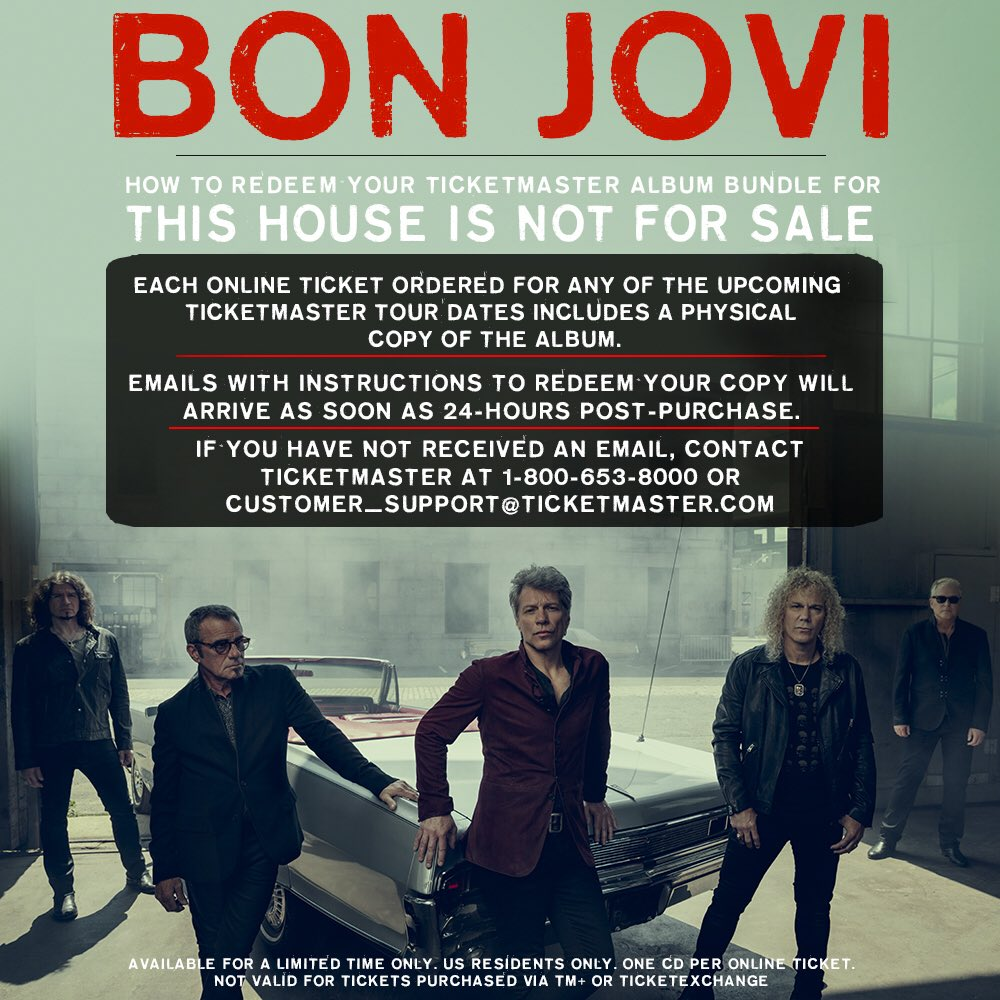2018 This House Is Not For Sale Tour Each Online Ticket Purchase Includes A THINFS Album Redeem Yours Today By Following The Emailed Instructions