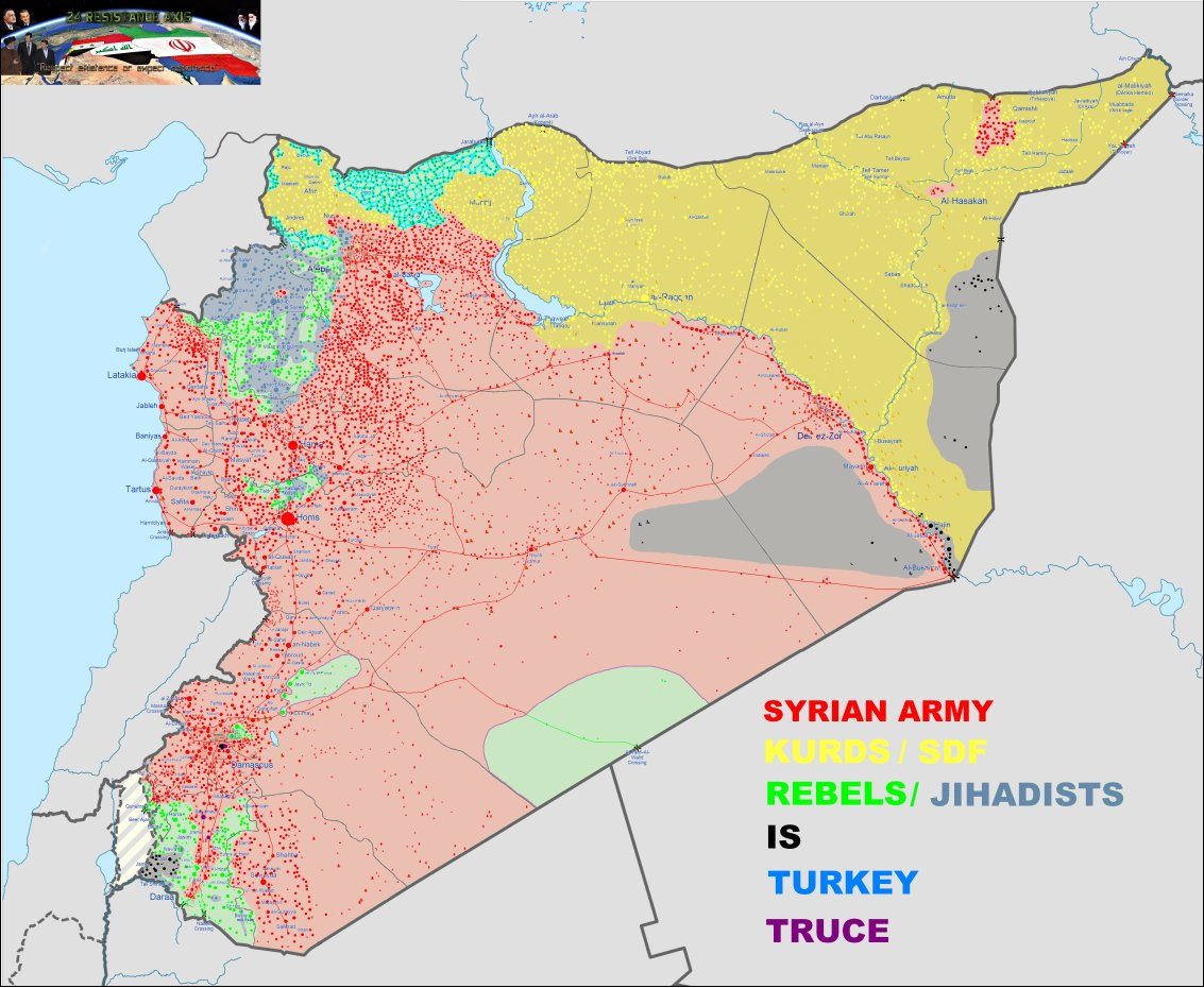 War in Syria on Twitter SYRIA MAP 16022018 Here will be only