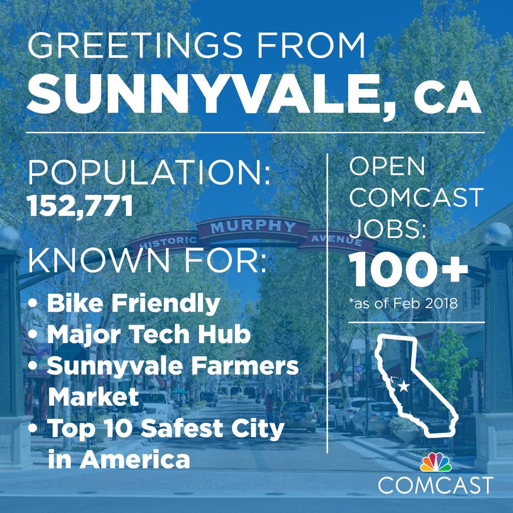 Comcast Careers On Twitter Find Yourplaceatcomcast In Sunnyvale