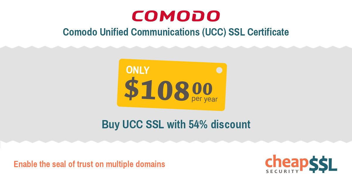 Cheapsslsecurity On Twitter Comodo Unified Communications Ssl
