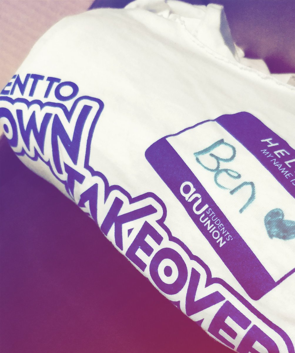 Found my old #towntakeover t-shirt from last year #tbt @AngliaRuskinSU<br>http://pic.twitter.com/FQgnPITSh0