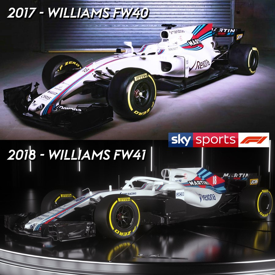 sky sports f1 on twitter the 2017 2018 williams f1. Black Bedroom Furniture Sets. Home Design Ideas