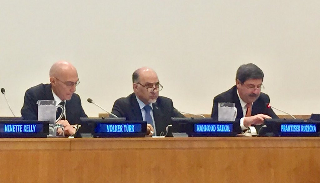 Honored to chair the exchange with UN member states on 1st round of formal consultations on the #GlobalCompact on #Refugees. Briefing by Mr Volker Turk of #UNHCR & remarks by PGA Chef de Cabinet @FeroRuzicka . Comments by member states contributed to moving the zero draft forward
