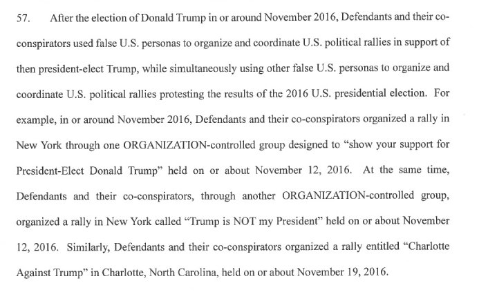 Interesting: Muellers investigation finds Russians also organized AGAINST Trump as well as for him