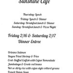 Image for the Tweet beginning: Mardi Gras Sunshine Cafe Menu